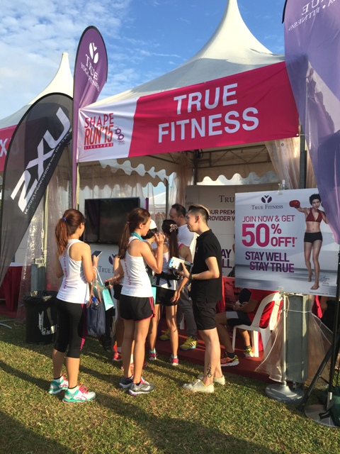 True Fitness booth at Shape Run 2015