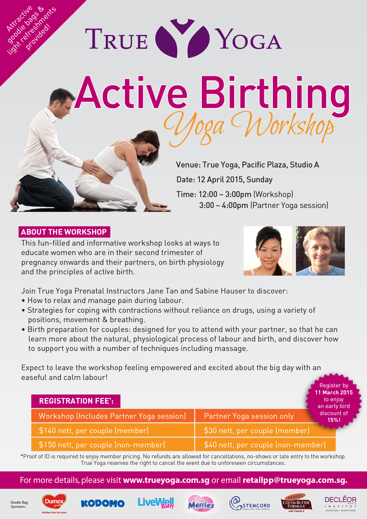 True Yoga Active Birthing Workshop 2015